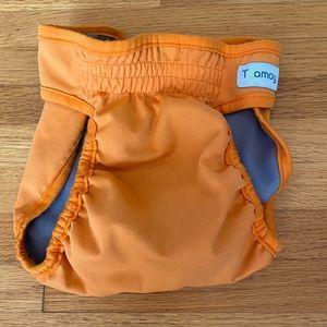 Reusable Orange Dog Diaper   Size Medium